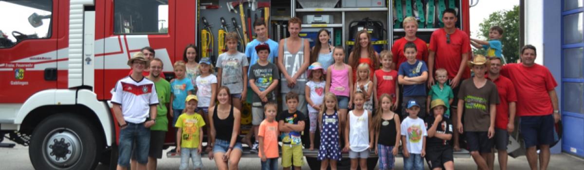 Ferienprogramm der Freiwilligen Feuerwehr Gablingen