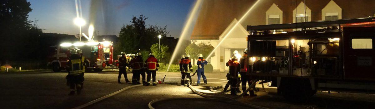 Gemeinschaftsübung der FF Gablingen und FF Batzenhofen